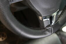 Blk PVC Leather Steering Wheel Stitch Wrap Cover Needle Thread DIY Corolla Camry