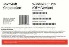 Original Sellado de Microsoft Windows 8.1 Profesional 64 bit DVD con la clave de producto