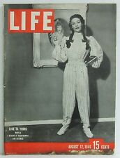 Loretta Young Life Magazine Peter Lind Hayes Frank Lloyd Wright August 12 1946!