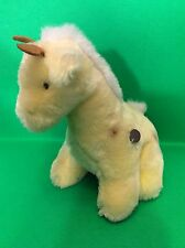 Vintage Jerry Elsner Yellow Giraffe Musical Moving Stuff Plush Baby Toy Lullaby