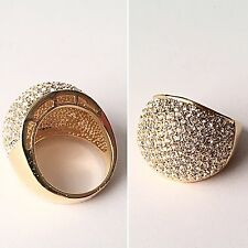 Melania Trump Jewelry Dome Ring Gold tone with stone  Size 9