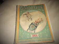 VINTAGE COLLECTABLE ANNUAL CHATTERBOX 1917 WELLS GARDNER DIXON ILLUSTRATED