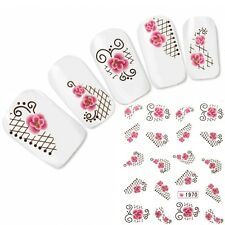 Tattoo Nail Art Ornamente Aufkleber Flower Blume Nagel Sticker Glitzer Neu!