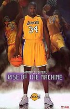 2003 Shaquille O'Neal Rise of the Machine Los Angeles Lakers Starline Poster OOP