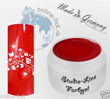 5 ml  Studio-Line UV Farbgel, Pure Color, Farbe: Kaminrot, Nr. 3004