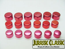 Ford 18pcs Red Chrome Motor Engine Bolts Caps Covers Dress-up Kit NOS Mustang