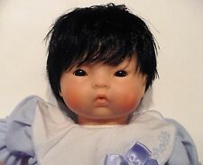 VINTAGE 1998 COROLLE ASIAN BABY BEAN DOLL LAUGHING BOX INSIDE VERY CUTE