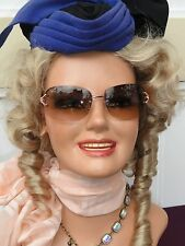 Vintage 1960's? SMILING Mannequin Head/Bust Store Hat/Wig Display