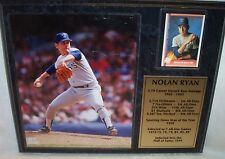 "Nolan Ryan Color Photo Plaque 12"" X 15"" Limited Edition 74 of 1998"
