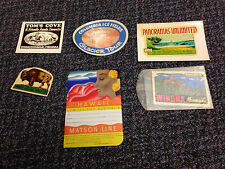 1950S LOT OF 6 DECALS  COLUMBIA ICE FIELDS OREGON 101 MATSON LINE