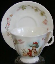 Royal Albert England Porcelain Cup & Saucer Beatrix Potter - Benjamin Bunny