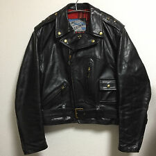 Aero leather 38 horsehide King of the Road Motercycle jacket FQHH racer black