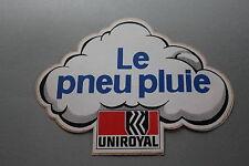 PJ Ancien autocollant voiture Le pneu pluie UNIROYAL 180*135 mm