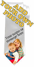 OWN PHOTO PICTURE PERSONALISED NECK TIE *ANY NAME/TEXT/COLOUR **GIFT/PRESENT**
