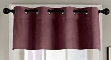 MADE IN THE USA 100% COTTON VELVET GROMMET VALANCE BERRY, by VERATEX