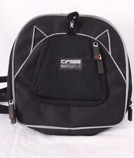 Petego Marsupack Black/Gray Zipper Expandable Shoulder Strap Pet Carrier