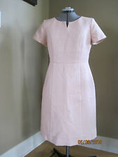 NWT TALBOTS Light Pink Short Sleeve Lined Careeer Dress size 8