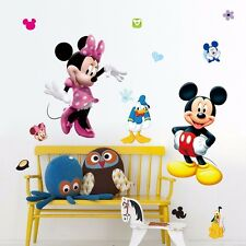 Disney Mickey Minnie Mouse Wall Stickers Removable Decal Kids Decors Nursery DIY
