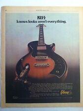 1976 KISS PAUL STANLEY GIBSON MARAUDER GUITAR POSTER PRINT AD 11.5 x 14.5