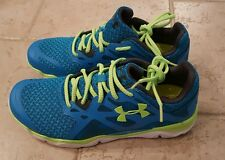 UNDER ARMOUR ZONE Blue/green 4D FOAM Athletic Training/Running Sneakers