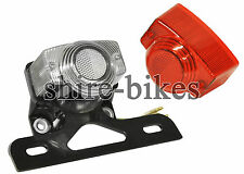 12V Rear Light & Number Plate Holder suitable for use with Monkey Bike