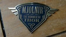 THOR MJOLNIR NAMEPLATE FOR YOUR HAMMER PROP DISPLAY DARK WORLD AVENGERS