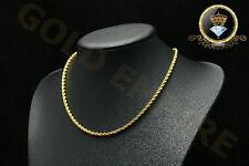 Damen/Herren Halskette Kordelkette Dubai echt 750 Gold/18 Karat  vergoldet 1178
