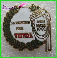 Pin's La victoire TOTAL Paris Dakar 1991 Couronne Laurier #1999