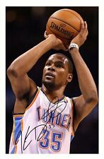 KEVIN DURANT - OKLAHOMA CITY THUNDER AUTOGRAPHED SIGNED A4 PP POSTER PHOTO