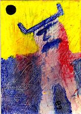 minotaur e9Art ACEO Mythology Outsider Art Brut Expressionism Fantasy Painting