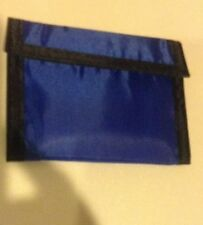 Nylon Blue Wallet With Velcro & Clear ID Window Light Weight NEW