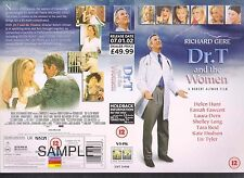 Dr. T And The Women, Richard Gere Video Promo Sample Sleeve/Cover #10683