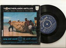 """THE NETHERLANDS ANTILLES, Edgar Palm, Los Vigilantes 7"""" EP PHILIPS 427033 MONO"""