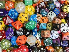 1/2 Pound Of Polyhedral Chessex and Wiz Dice One Full Set and Bag D&D RPG Lot