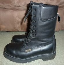 "SZ 6.5 2E BLACK LEATHER PROSPECTOR 10"" GORE-TEX THINSULATE BOOTS MADE IN CANADA"