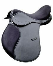 GP jumping horse Synthetic saddle black Medium Fit Premium Quality 17.5""