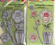 New Stampendous DIE & Rubber STAMP Set POP UP build a ROSE BOUQUET Free us ship
