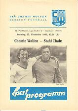 DDR-Liga 83/84 BSG Químicos Módulo de picado - BSG Acero Thale, 27.11.1983