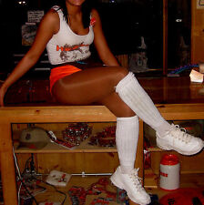 Slouch Schunchie Knee Socks Thick Warm Hooters Girl Uniform Cheerleader School