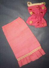 Vtg 1974 Barbie Doll Best Buy #7747 Pink & White Skirt Top Flower Appliques