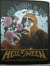 HELLOWEEN Pink Bubbles Go Ape Original Vintage 1991 Woven Sew On Patch