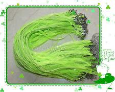 18 Colors 20/50/100Pcs Voile Organza Ribbon Necklace Silk Cord Clasp 43cm+5cm