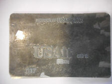 USAir inc Metal Ticket Validation Plate plaque validation de ticket airline
