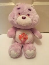 "Vintage 1985 Care Bears 13"" SHARE BEAR Plush Stuffed Animal Milkshake"