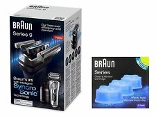 Braun 9095cc Wet & Dry Electric Shaver + Cleaning System + Extra CCR3 Refill NEW