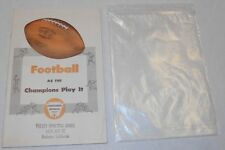 1948 Football as the Champions Play It 1951 Revised Edition Book