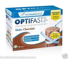 Optifast 72 MILKSHAKES (4 BOXES) CHOCOLATE PREMIUM 54 gm each sachet NEW --- DRP