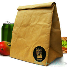 Luckies Brown Paper Lunch Bag Retro American Style Reusable Pached Lunch Box