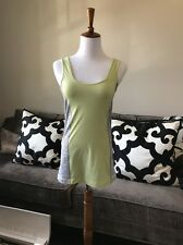 Lululemon Tank Top In Lime/gray Size 8