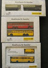 Brekina Deutsche Post Historische Fahrzeuge der deutschen Bundespost Serie 10-12